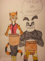 Kung Fu Trick or Treaters by Zigwolf