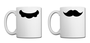Mario Bros. Mustache Mugs by Enlightenup23