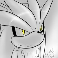 Silver the hedgehog. by lilliganto