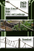 Rope Fence and Section PSD Zip by WDWParksGal-Stock