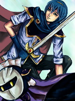 SSBB - Marth Metaknight by AStudyInScarlet