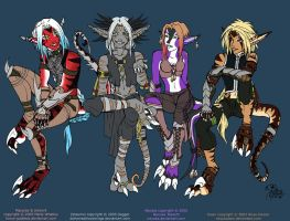 All Us Raptors - flats by Horus-Goddess