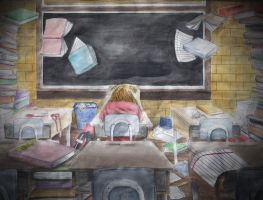 School Stress by joy-ling