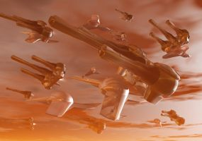 Troop Carrier Fleet by connorz16