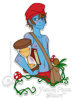 Young Papa Smurf for TairusuKU by Icarus-Skollsun
