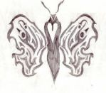 Tribal heart butterfly by Mooness