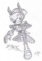 Zonic the Zone Cop - pencil doodle by AR-ameth