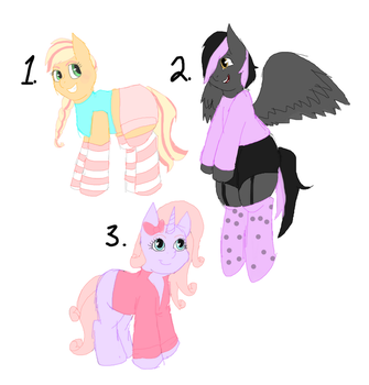 Pastel Pony Adopts - Each $3 - OPEN by Gothic-Rarity