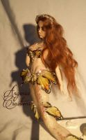 butterfly mermaid Clary ooak by angenia creations by AngeniaC