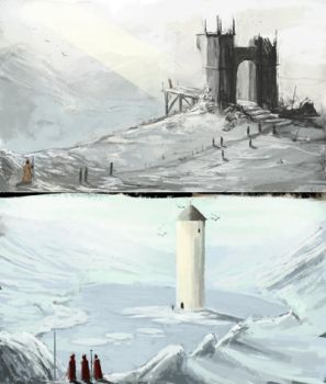 Winter landscapes by Rainbows-Or-Knives