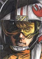 LUKE SKYWALKER 3 SKETCH CARD by AHochrein2010