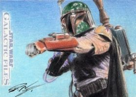 Star Wars GF - Boba Fett Sketch Art Card by DenaeFrazierStudios