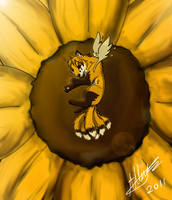 sleeping in a sunflower v2 by Ocrienna