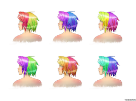 Multicolor Hairstyles by tonkonton