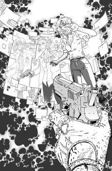 DEEP STATE #5 cover BW by OXOTHUK