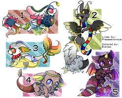 :Designs for Auction(no 5 is open): by PrePAWSterous