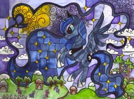 Luna stained glass by Nightrosi