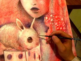 bunny in progress.. by Giurio