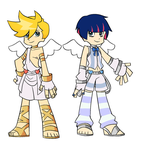 rule 63 Panty and Stocking designs by puricoXD