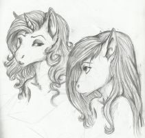 MLP Sketches- Answer me this by Earthsong9405