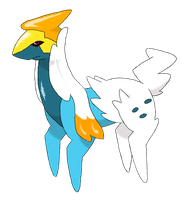 ice legendary fakemon by bellpup