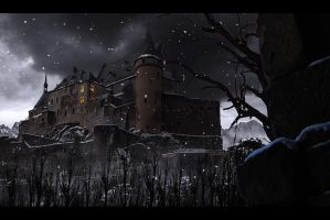 snow castle by binouse49