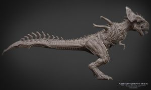 Xenomorph - Rex - Side - Clay Render by Rhythem02