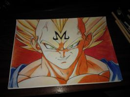 Majin Vegeta by spartanforever2000