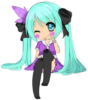 Miku Hatsune COLORED LINE ART by PrincetonsMonster