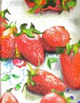 Table of Strawberries by Farumir