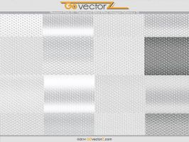 Transparent Metal Effect Hexagon Patterns by GovectorZ