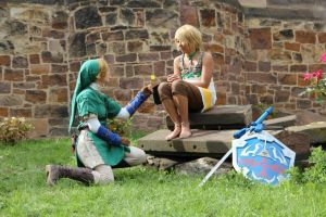 Link Cosplay and Ilya by awesome-Kathi