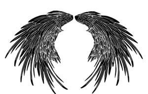 Angel wing tattoo large by Quicksilverfury
