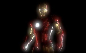 Glowing Iron Man by Seans-Photography