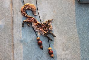 Autumn Fox Pendant by hontor
