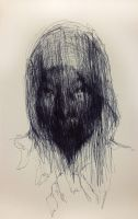 (D61)  untitled  ball pen on paper 23.8 x 15.4 by ShinKwangHo