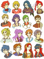 favourite fire emblem sacred stones characters by Faezer