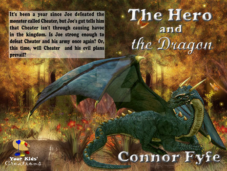 The Hero and the Dragon paperback book cover by moonduster