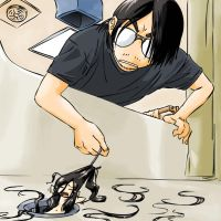 Fishing Hair Out of the Drain by JohnSu