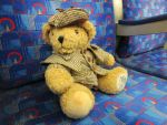 Sherlock Teddy rides the London Underground by Candyfloss-Unicorn