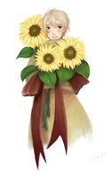 Sunflowers for you by countercanon