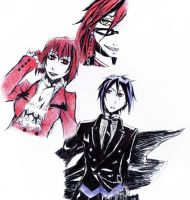Black Butler Doodles by blue-ember333