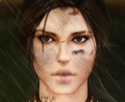 New Lara's face. by SonRuki