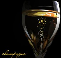 champagne. by photocopier