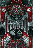 Heil Bapho or baphomet 4 by mpv666