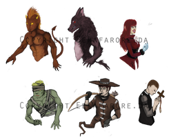 Demons, werewolves, ghouls, oh my by EenaFarore