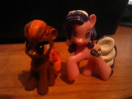 Screwball and buttonmash blind bag customs by Crystalshine3232
