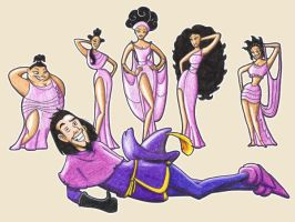 Disney: Clopin x Muses by Freaky-chan
