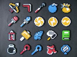 Perler Legend of Zelda Items by EP-380