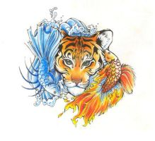 Elemental Pisces and Tiger by ShadowKira